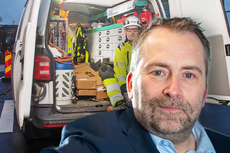 Jonas Rostedt Fleet manager på Omexom.