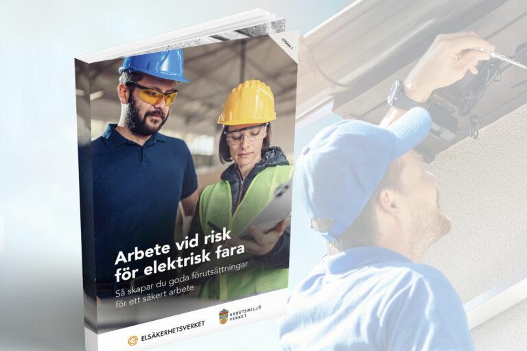 Elsäkerhetsverkets och Arbetsmiljöverkets nya handbok. Foto: ESV/Arbetsmiljöverket/Getty/Montage