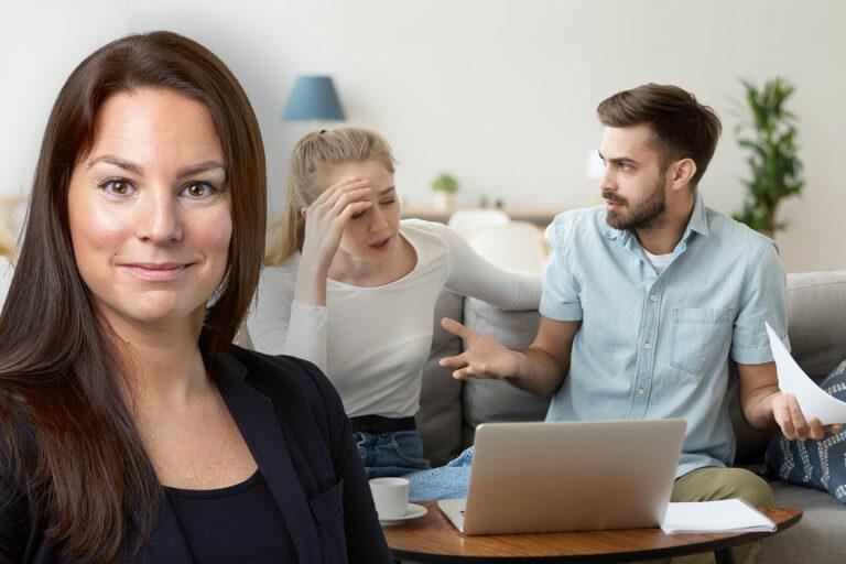 Paret hävdar att de inte är skyldiga att betala förrän allt arbete är utfört. Entreprenadjurist Betti-Ann Pettersson reder ut. Foto: Getty/Montage