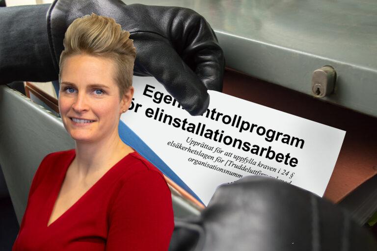 Cecilia Axelsson, vi får inte se vårt egenkonrollproggram, är det ok?