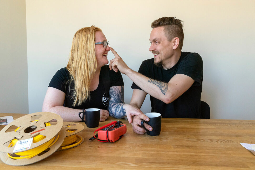 Ebba Gladh och Mikael Ålander. Foto: Alexander von Sydow