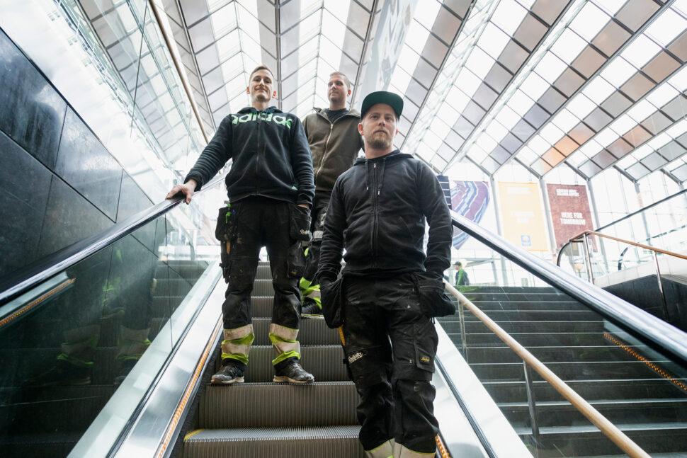 Alexander Norén, Niklas Gustafsson och Tobias Heyman. Foto: David Lagerlöf
