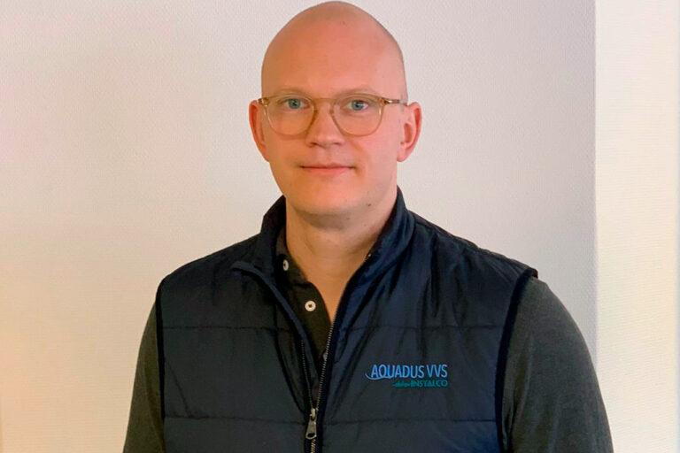 Linus Ersson, ny vd för Aquadus VVS.