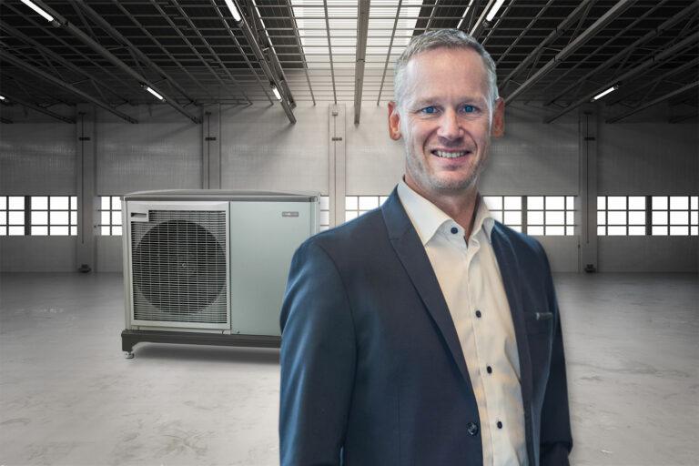 Niklas Rönnäng, försäljningschef på Nibe, är bekymrad över leveransproblemen. Foto: Getty/Privat OBS Montage